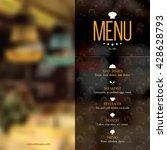 restaurant menu design. vector... | Shutterstock .eps vector #428628793