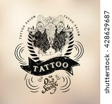 tattoo girl old school studio... | Shutterstock .eps vector #428629687