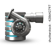 concept. steel hdd turbocharger ... | Shutterstock . vector #428642797