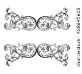 vintage baroque ornament. retro ... | Shutterstock .eps vector #428645623