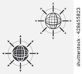 global connections line icon ...