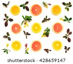 top view of orange  grapefruit... | Shutterstock . vector #428659147