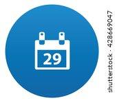 calendar icon on blue button...