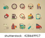 automobil icon set  vector icons | Shutterstock .eps vector #428669917