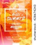 summer beach party flyer or... | Shutterstock .eps vector #428674243
