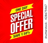 one day special offer sale... | Shutterstock .eps vector #428675467