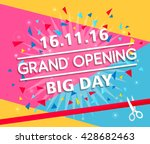 grand opening celebration... | Shutterstock .eps vector #428682463
