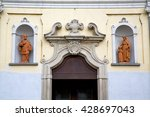 church door   in italy ... | Shutterstock . vector #428697043