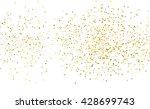 gold dust on white. like gold... | Shutterstock . vector #428699743