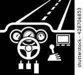 car dashboard vector    Shutterstock .eps vector #428706853