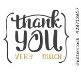 thank you very much. hand...   Shutterstock .eps vector #428713657