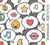 seamless pattern with speech... | Shutterstock .eps vector #428717173