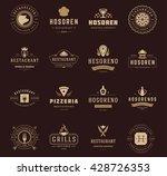 vintage restaurant logos design ... | Shutterstock .eps vector #428726353