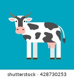 cartoon cow in flat style | Shutterstock .eps vector #428730253