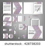 striped corporate identity... | Shutterstock .eps vector #428738203