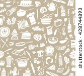 cookery seamless pattern with... | Shutterstock .eps vector #428744893