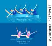 synchronized swimming banner... | Shutterstock .eps vector #428749657