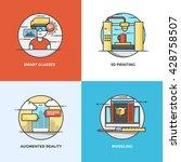 modern flat color line designed ... | Shutterstock .eps vector #428758507
