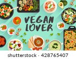 vegan food   food illustration... | Shutterstock .eps vector #428765407