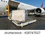 loading platform of air freight ... | Shutterstock . vector #428767027