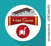hotel design. travel icon.... | Shutterstock .eps vector #428768653