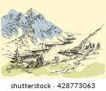mountain river | Shutterstock .eps vector #428773063