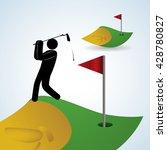 golf design. sport icon.... | Shutterstock .eps vector #428780827