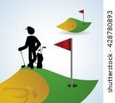 golf design. sport icon.... | Shutterstock .eps vector #428780893
