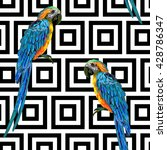 seamless tropical pattern with... | Shutterstock .eps vector #428786347