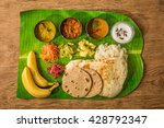 lunch of meals south india | Shutterstock . vector #428792347
