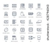 set vector line icons with open ... | Shutterstock .eps vector #428796043