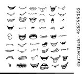 cartoon mouth icon illustration ... | Shutterstock .eps vector #428799103