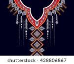 geometric ethnic oriental... | Shutterstock .eps vector #428806867