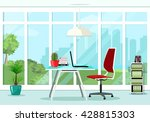 cool graphic office room... | Shutterstock .eps vector #428815303