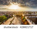 paris city landmarks shooted... | Shutterstock . vector #428821717