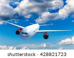 big white airplane above the... | Shutterstock . vector #428821723