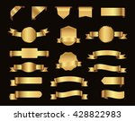 ribbon banner set.vector golden ... | Shutterstock .eps vector #428822983
