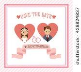 married design. wedding icon.... | Shutterstock .eps vector #428824837