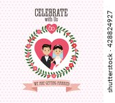 married design. wedding icon.... | Shutterstock .eps vector #428824927
