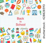 illustration set of school... | Shutterstock . vector #428828593