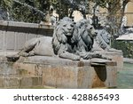 Statues Of Lions At The Rotund...