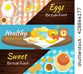 three horizontal top view flat... | Shutterstock .eps vector #428866177