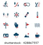 skiing web icons for user... | Shutterstock .eps vector #428867557