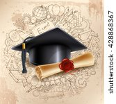 black graduation cap and... | Shutterstock .eps vector #428868367