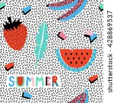 summer seamless pattern with... | Shutterstock .eps vector #428869537