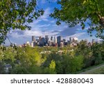 calgary's skyline with the bow... | Shutterstock . vector #428880043