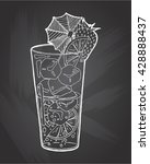 hand drawn sketch ice alcoholic ... | Shutterstock .eps vector #428888437