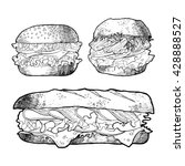 illustration of sandwich burger ... | Shutterstock .eps vector #428888527