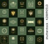 line graphics monogram. vintage ... | Shutterstock .eps vector #428890513