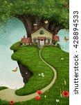 fantasy card or illustration of ... | Shutterstock . vector #428894533